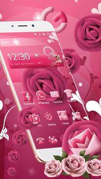 Pink Rose Mobile Theme apk screenshot