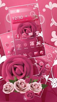 Pink Rose Mobile Theme poster