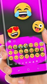 Neon Purple Lip Wallpaper Keyboard screenshot 1