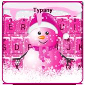 Cute Pink Snowman Typany Keyboard theme icon
