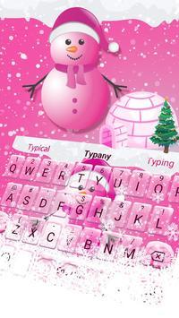 Cute Pink Snowman Typany Keyboard theme screenshot 1