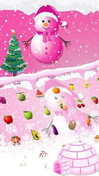 Cute Pink Snowman Typany Keyboard theme screenshot 2