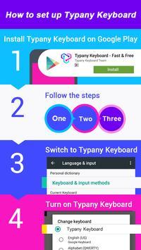 Cute Pink Snowman Typany Keyboard theme screenshot 4