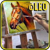 Step by step oil painting icon