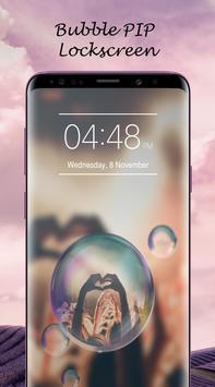 Bubble PIP Lock Screen Love screenshot 2