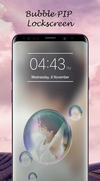 Bubble PIP Lock Screen Love screenshot 5
