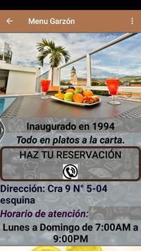 Menú Garzón screenshot 3
