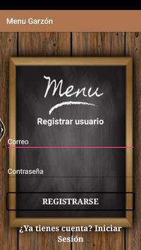 Menú Garzón screenshot 1