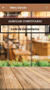 Menú Garzón screenshot 4