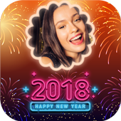 2018 New Year Greetings, Photo Frames & Wishes icon