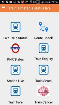 Train Timetable status live screenshot 1
