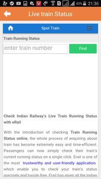 Train Timetable status live screenshot 2