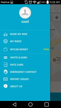 MyCab - Online Cab Booking App apk screenshot