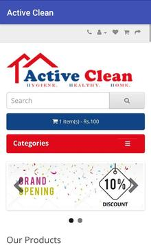 Active Clean Online Store screenshot 1