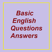 Basic English question answers icon