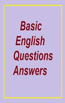 Basic English question answers poster
