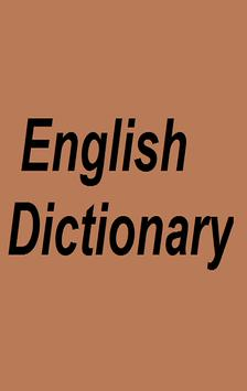 English Dictionary poster