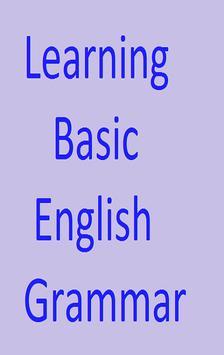 Learning Basic English Grammar poster
