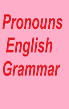 Pronouns English Grammar poster