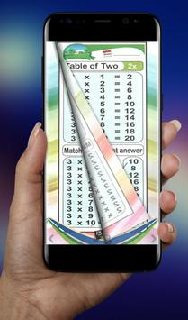 Math Tables Book apk screenshot