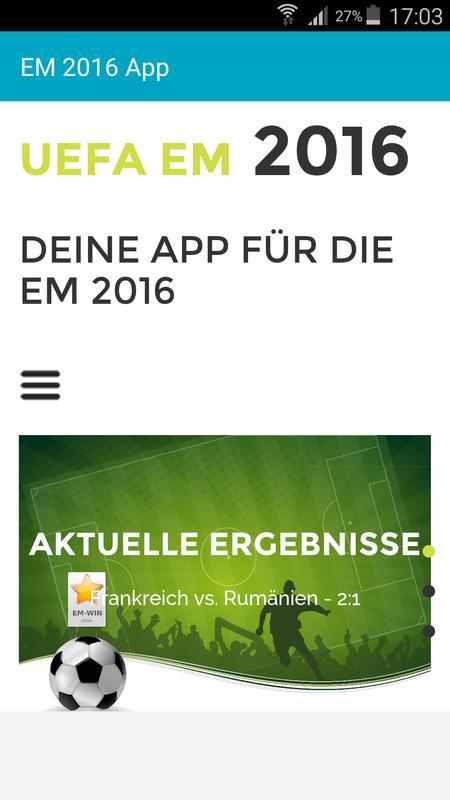 Em 2016 Live Ticker News Poster
