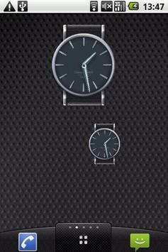 Classic elegant clock widget poster