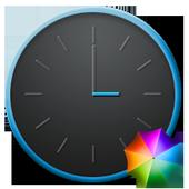Grey&Blue elegant Clock Widget icon