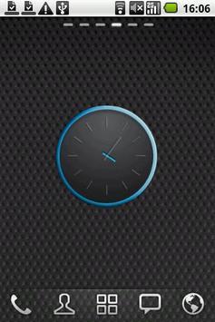Grey&Blue elegant Clock Widget apk screenshot