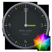 Grey and Green Clock Widget icon