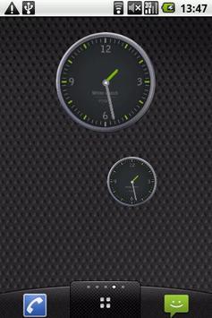 Grey and Green Clock Widget poster