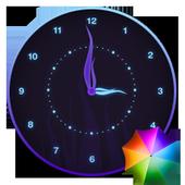 Stylish Glowing Clock Widget icon