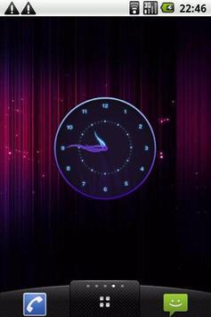 Stylish Glowing Clock Widget poster