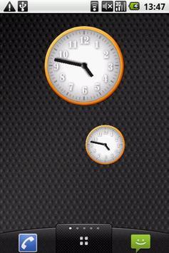 White - Orange Clock Widget poster