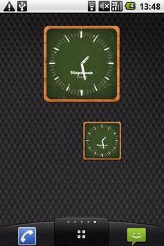 Shoolboard clock widget poster