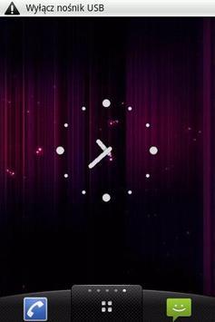 White dots Clock Widget poster