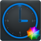 Round Blue Clock Widget icon