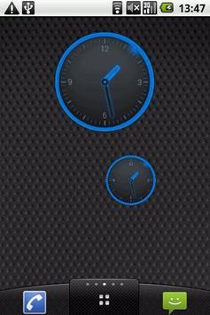 Round Blue Clock Widget poster
