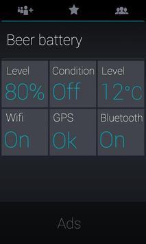 Round Blue Clock Widget apk screenshot