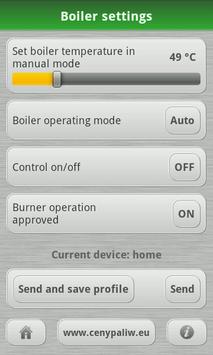 Kostrzewa - boiler control screenshot 2