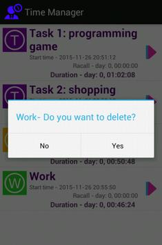 Time Manager apk screenshot