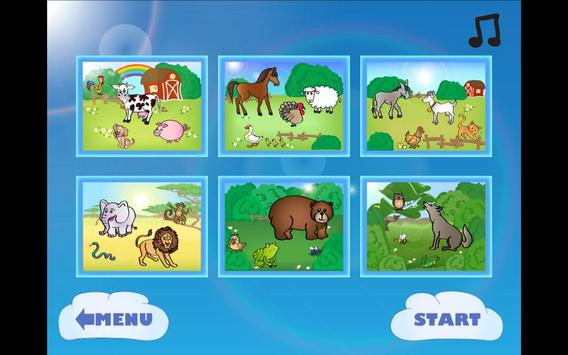 Tap animals for kids screenshot 1
