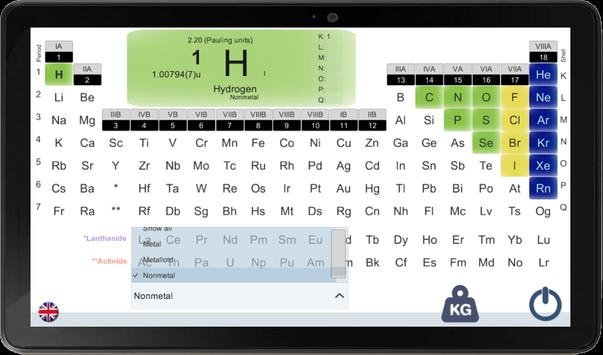 PERIODIC TABLE FOR A SMARTPHONE screenshot 2