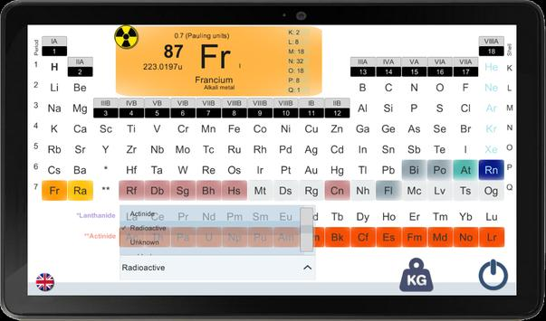 PERIODIC TABLE FOR A SMARTPHONE screenshot 5