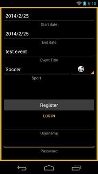 SPORTS EVENTS screenshot 2