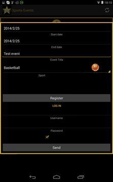 SPORTS EVENTS screenshot 8