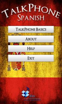 TalkPhone Spanish  Basics poster