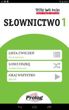 TEST YOUR POLISH Vocabulary 1 apk screenshot