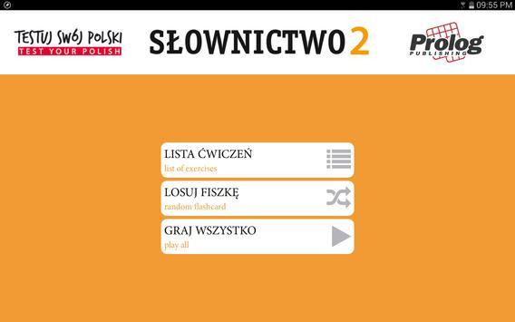 TEST YOUR POLISH Vocabulary 2 apk screenshot