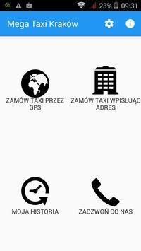 Mega Taxi Kraków poster