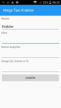 Mega Taxi Kraków apk screenshot